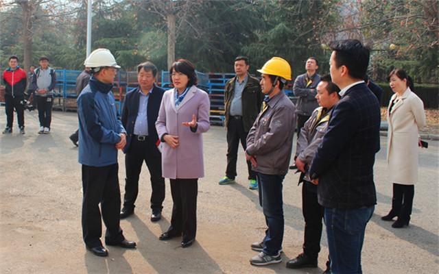 李婧书记对西安西玛电机厂的环保工作给予充分肯定